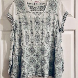 Johnny Was Embroidered Bohemian Tunic - Large